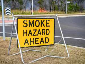 Fire forces road closure