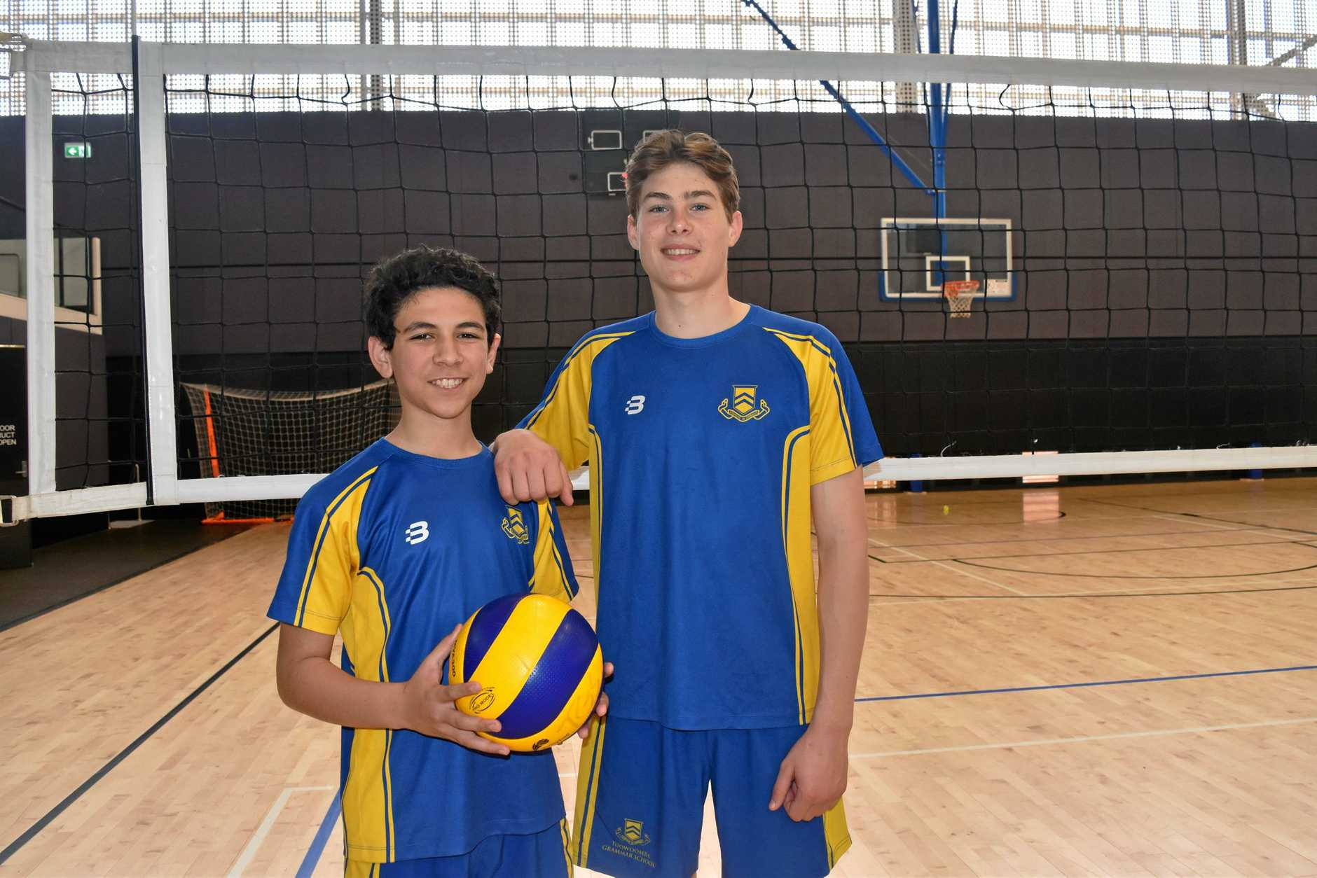 SERVING IT UP: Toowoomba Grammar School volleyballers Hussein Yusaf (left) and Ben Hood will represent Queensland at the Australian Junior Volleyball Championships in Canberra later this month.