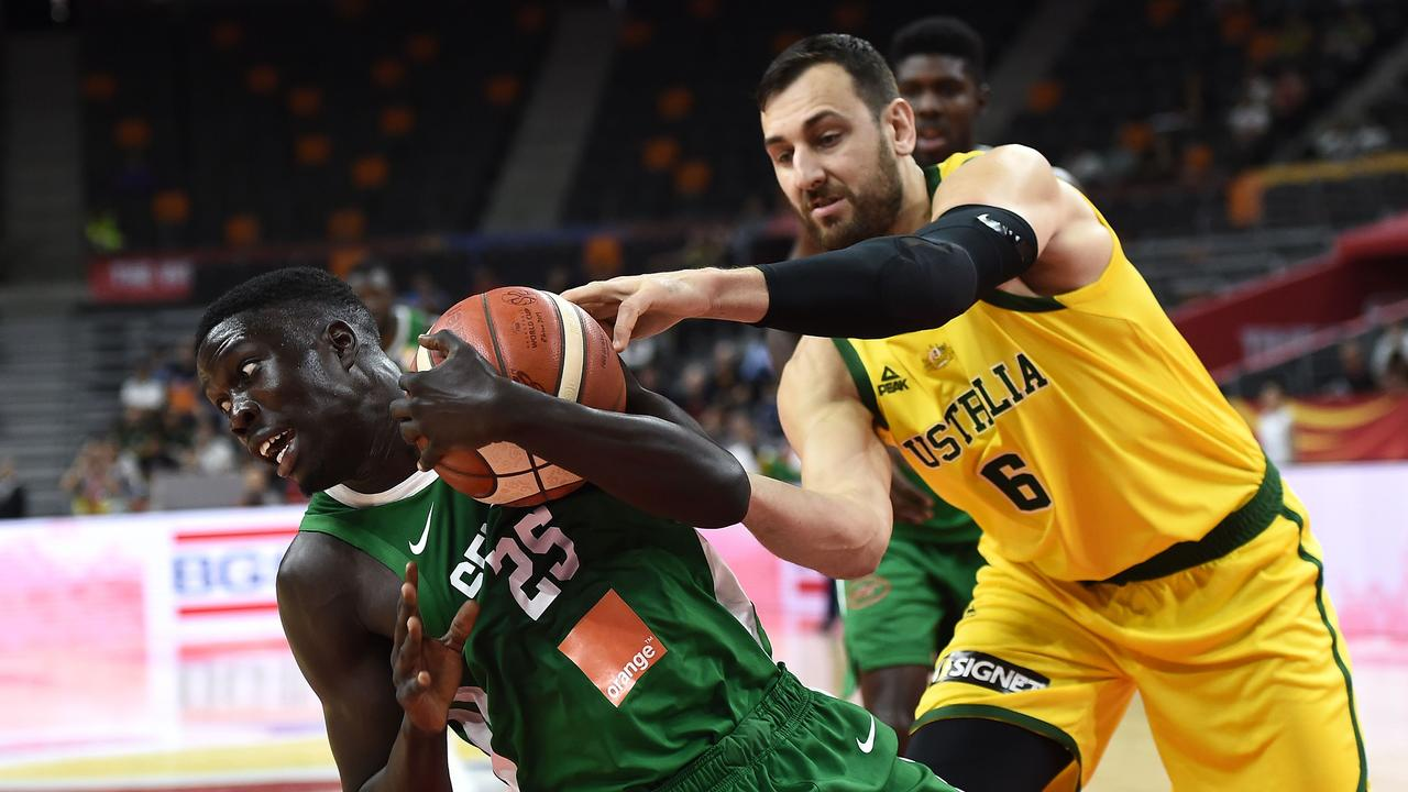 Senegal were fighting hard against the Aussies.