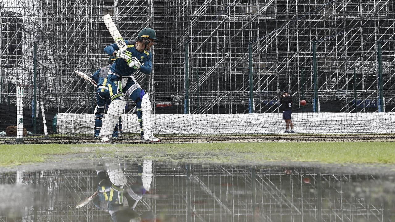 Tim Paine and his side have been back at work again in the gloom of Manchester.