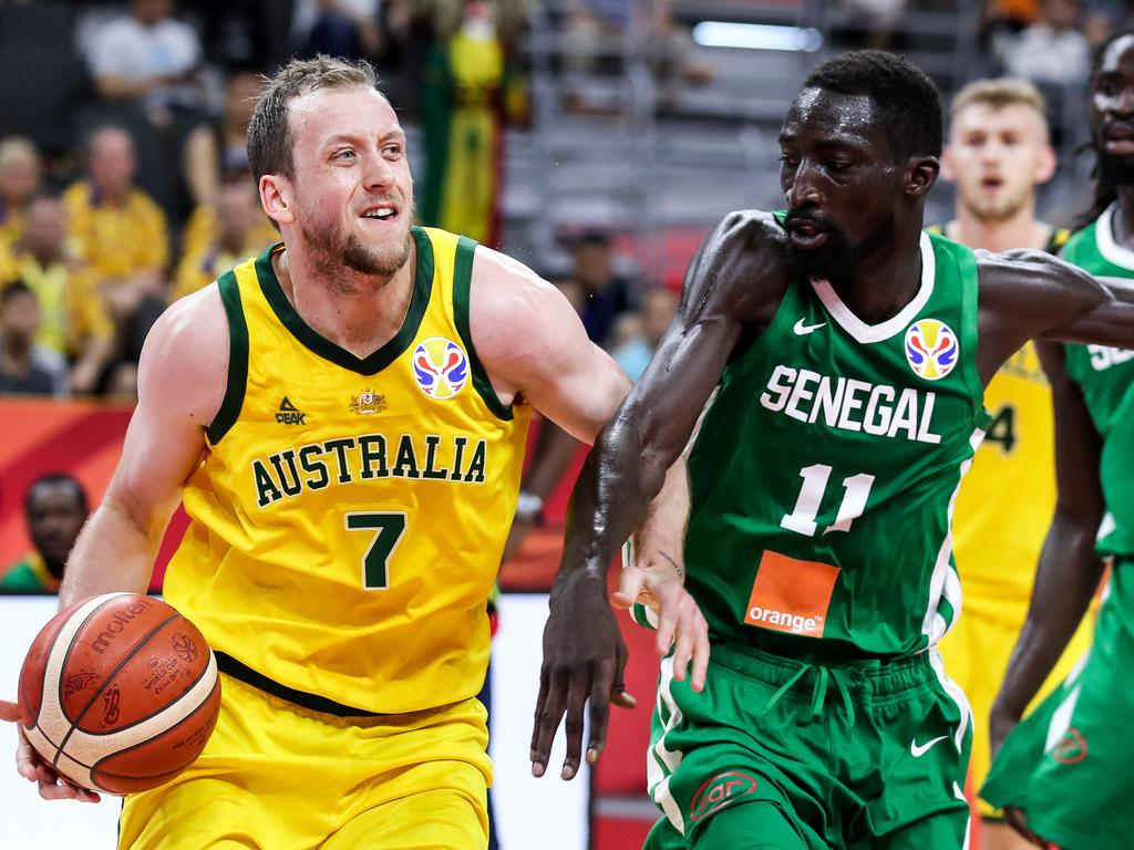 Joe Ingles helped settle the Aussies and get them going.