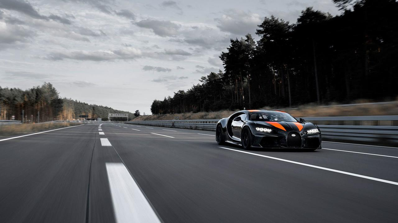 Bugatti swept the Ehra-Lessien test track and X-rayed the car's tyres before the run.