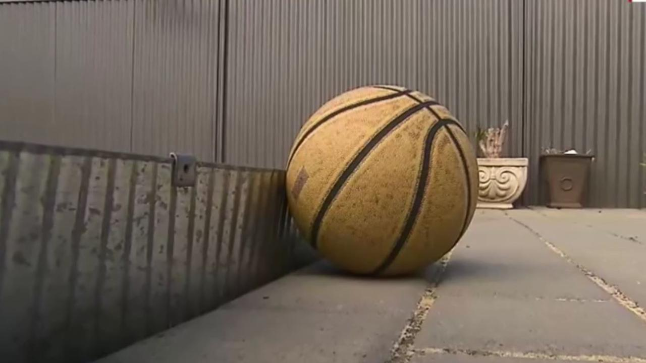 She also demanded the kids stop bouncing basketballs. Picture: Nine News