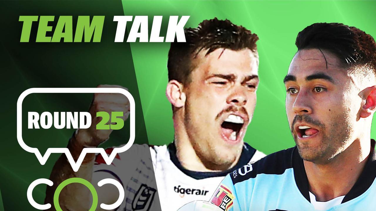 Round 25 team talk.