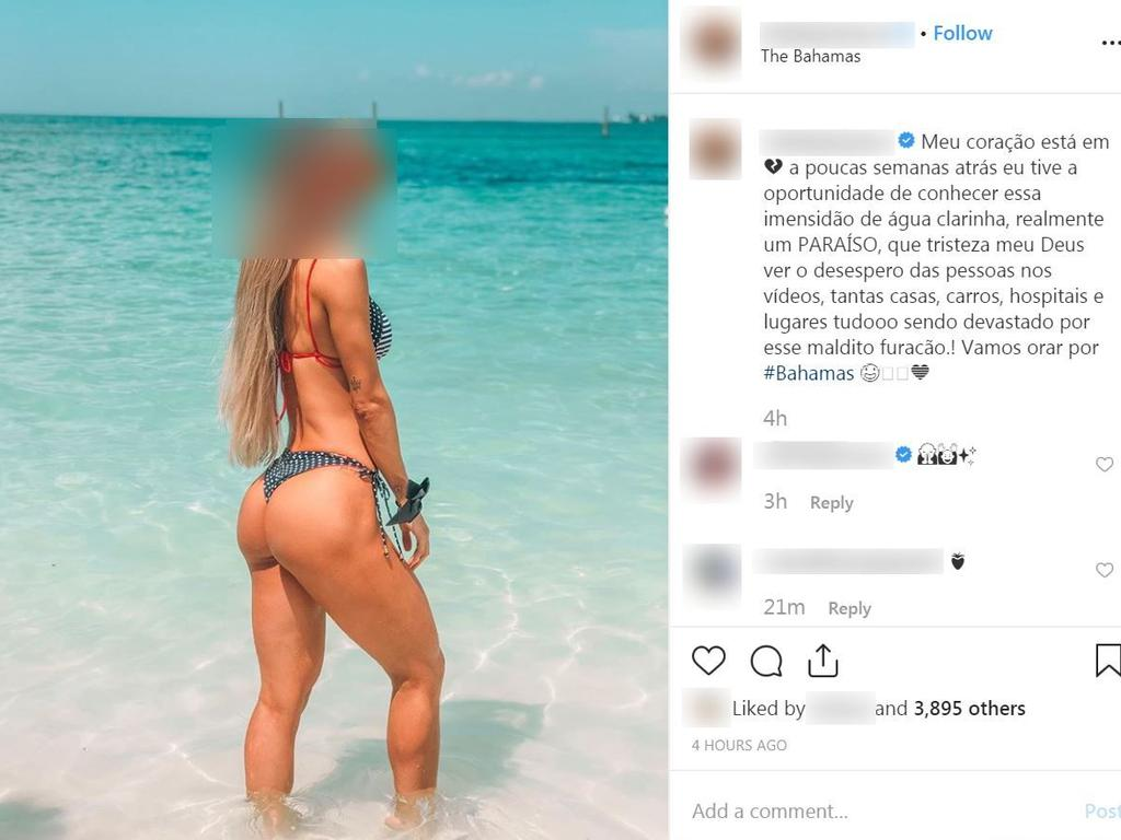 This Instagram influencer posted a picture of herself on the beach. Picture: Instagram