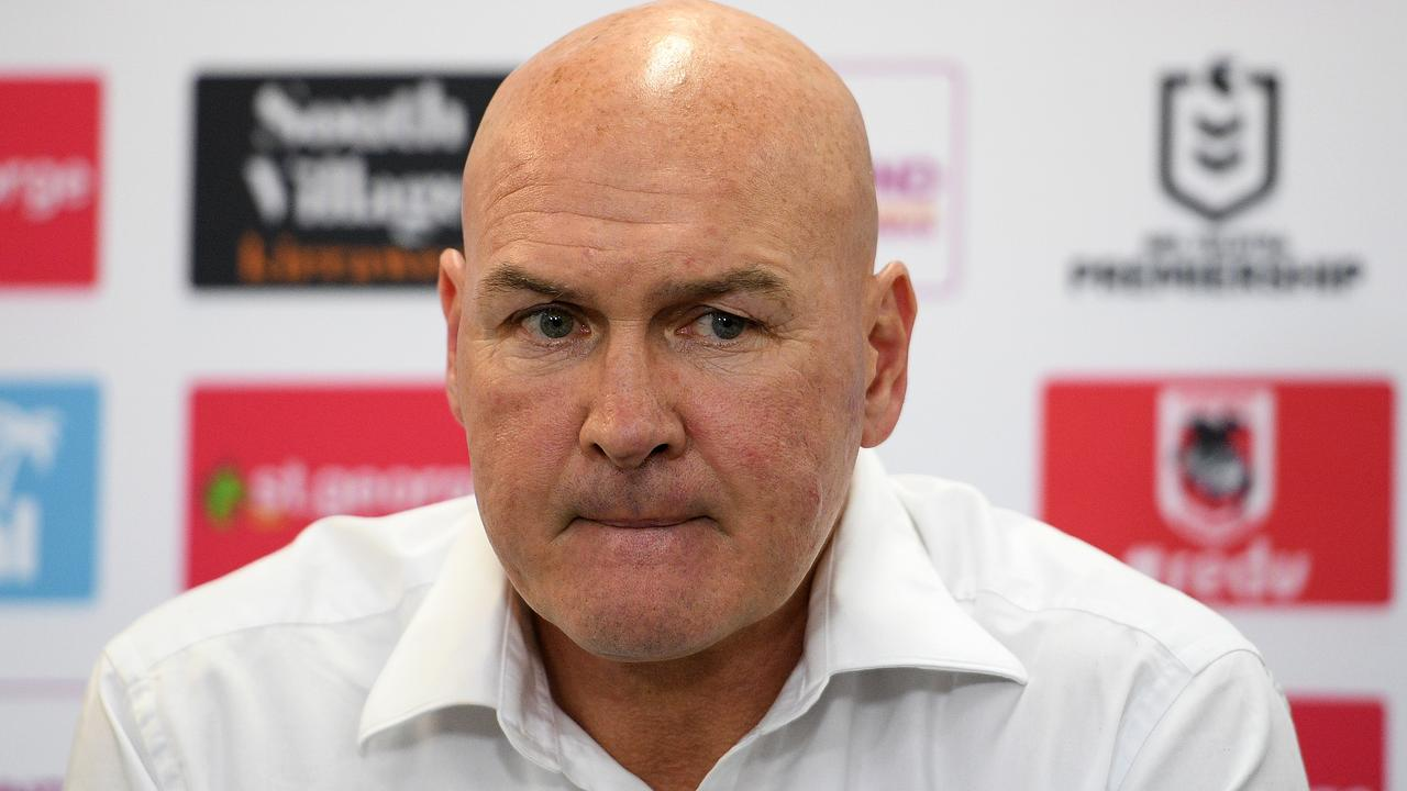 Dragons coach Paul McGregor can't afford a collapse against the Titans. Photo: AAP Image/Dan Himbrechts