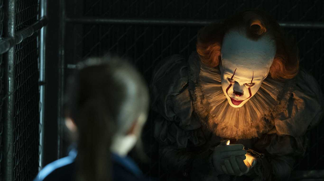 Bill Skarsgard returns as Pennywise in the movie It: Chapter 2.
