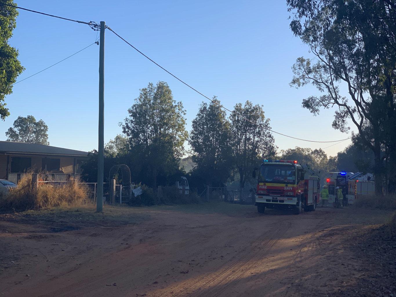 Grass fire on creek street Chinchilla 04/09/2019