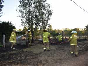 Welding sparks ignite dangerous backyard blaze