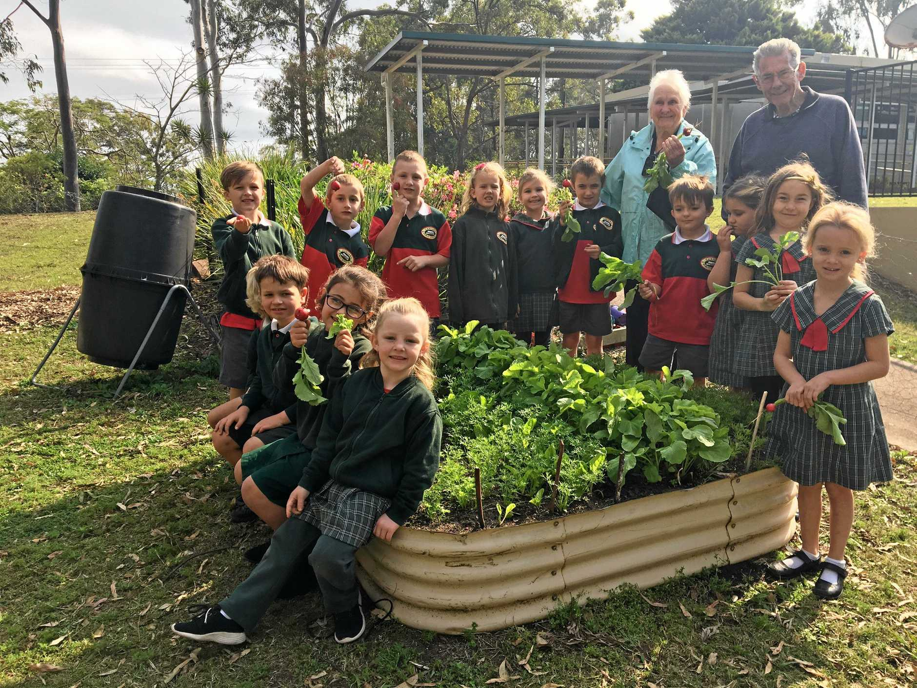 GREEN THUMBS: Caniaba Public School won first prize for their vegetable garden in the small schools garden division 2018 Lismore District Garden Club Spring competition.