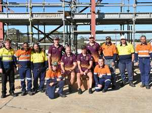 Scaffolding students get a lift from Broncos legends