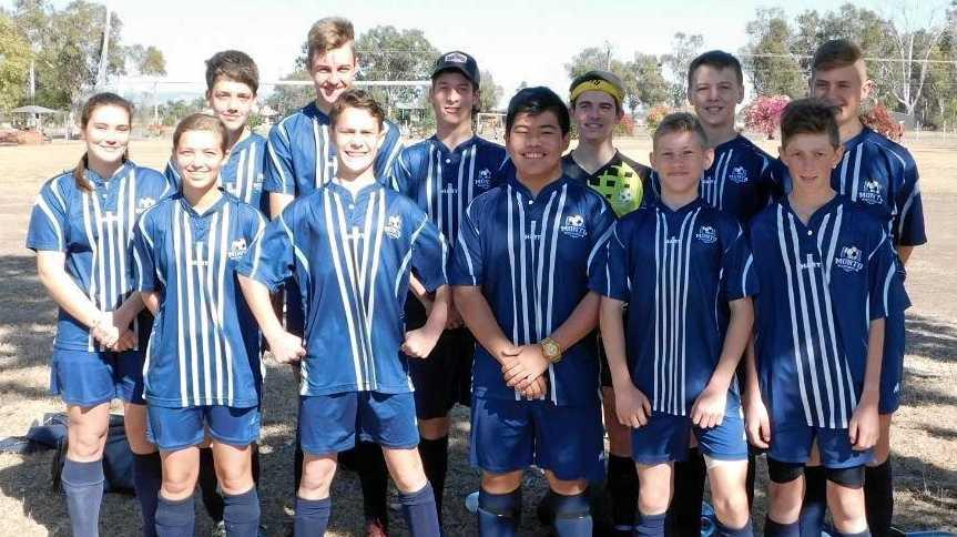 GRAND FINAL DEBUT: Monto Soccer Club's U16 Mavericks.