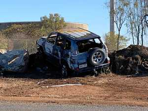 Offender crashes stolen car before it bursts into flames