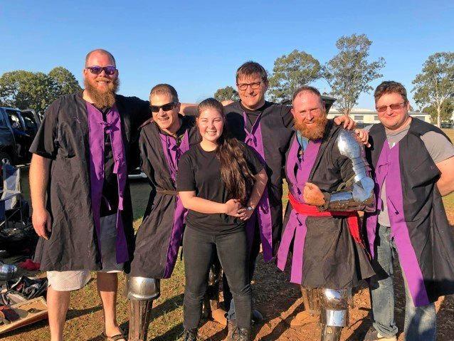 Members of the Tyr Warrior team (from left) Nathan Simpson, Kyle Weblan, Gemma Edgworth, Dave Malloy, Jaccob Dawes and Garry Clarke.