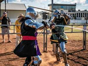 'MMA with weapons': Team battles it out at medieval event