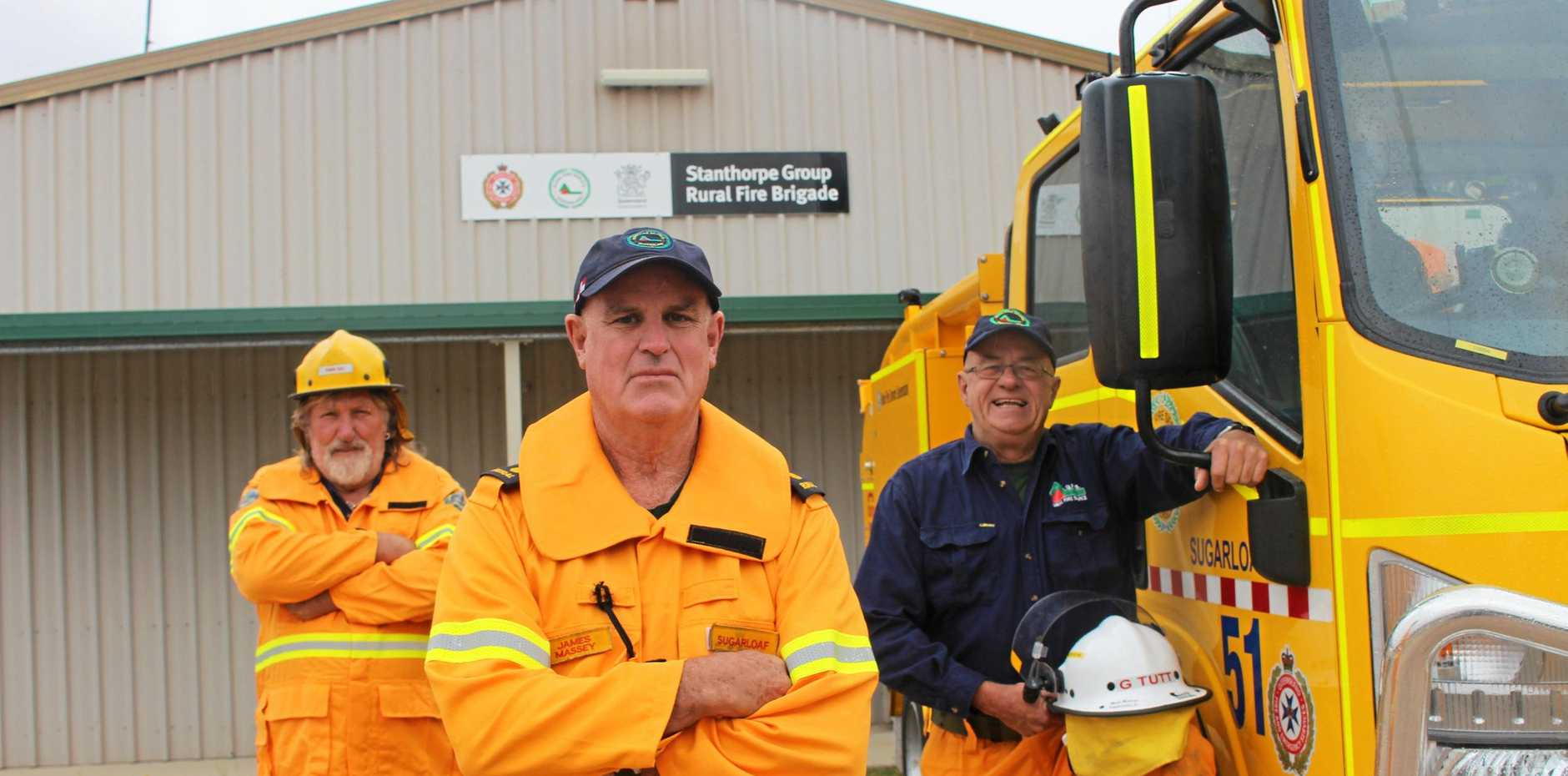 PREPARED: Pedro Curr, James Massey and Garry Tutt have contingency plans to tackle bushfires.