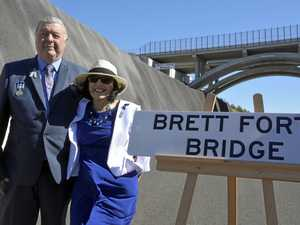 'Emotional' moment for family at Toowoomba Bypass bridge