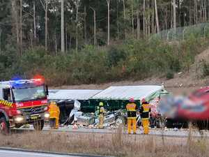 Driver killed in two-truck crash on Pacific Highway