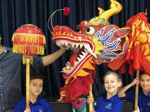 Chinese dragon gets Year 3s fired up for learning
