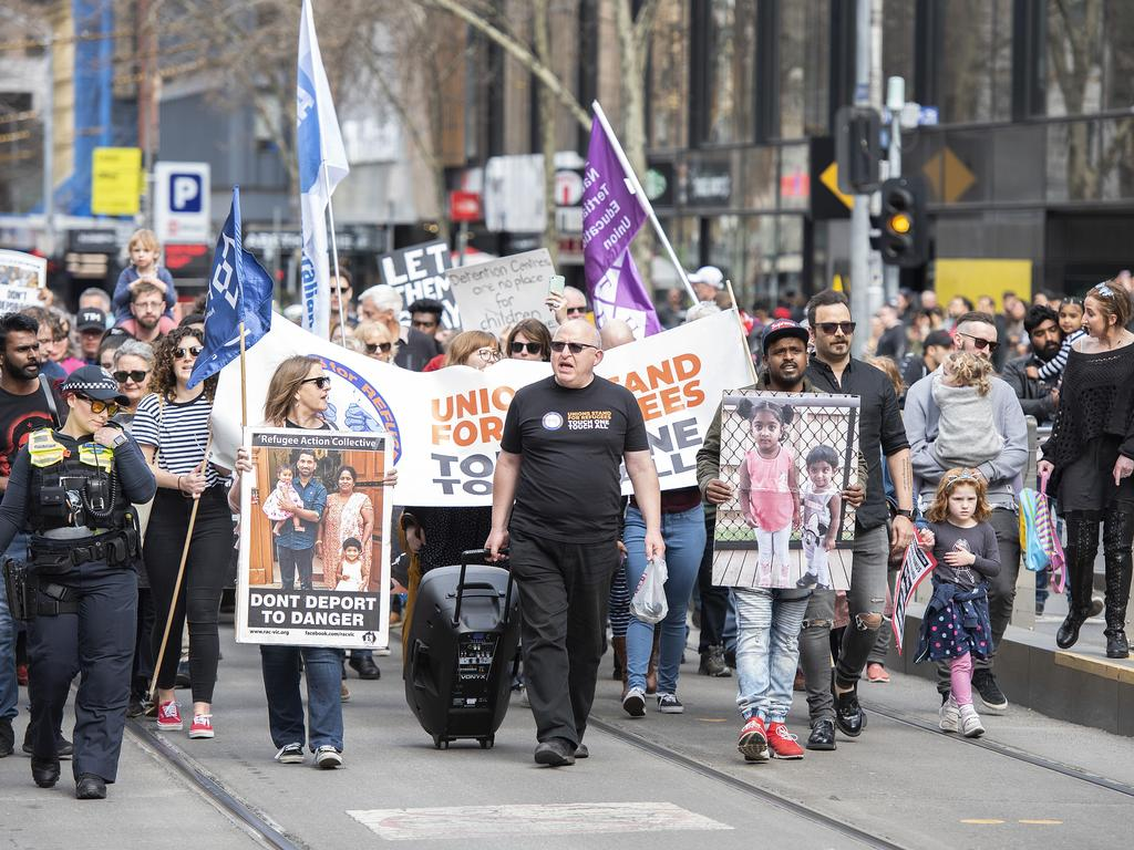 Hundreds of people across Australia have rallied in support of letting the family stay. Picture: AAP