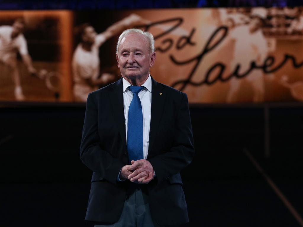 Former tennis player Rod Laver was recognised at a celebration at New York's Museum of Modern Art. Picture: AAP