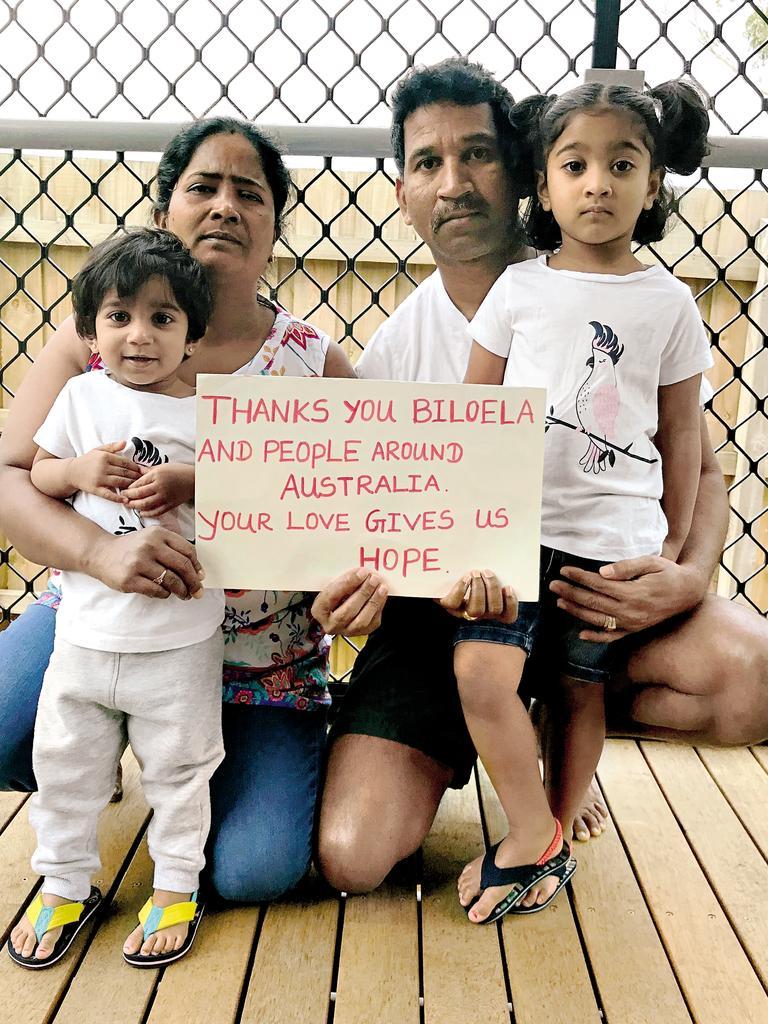 Nadesalingam Murugappan, his wife Priya and Kopika, 3 and Tharunicaa, 21 months.