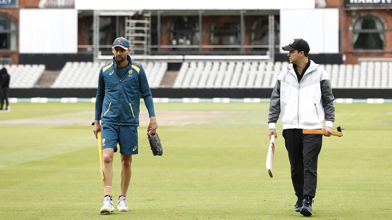 Nathan Lyon will have liked what he saw when getting a feel of the Old Trafford pitch this week.