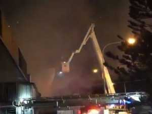 'Get out now!' Business destroyed by fire