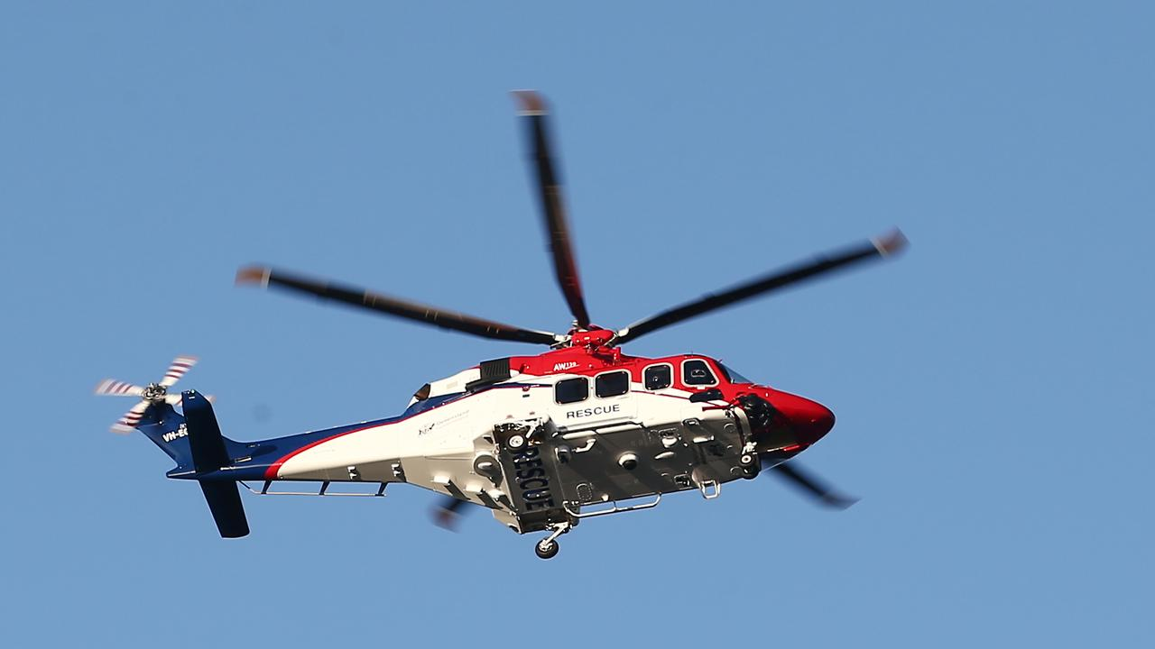A rescue helicopter has been flown to an accident involving a tractor north of Townsville