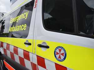 Emergency services respond to motor vehicle crash