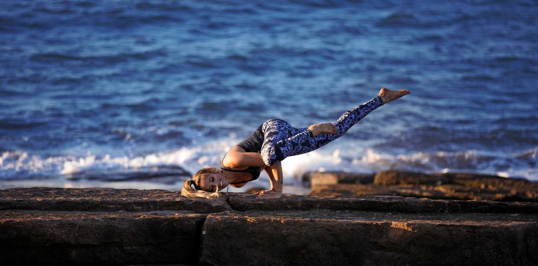 RELAX: Coffs Harbour yoga teacher Tara Barchalk will be one of the guest instructors at the Yamba Yoga Festival this year.