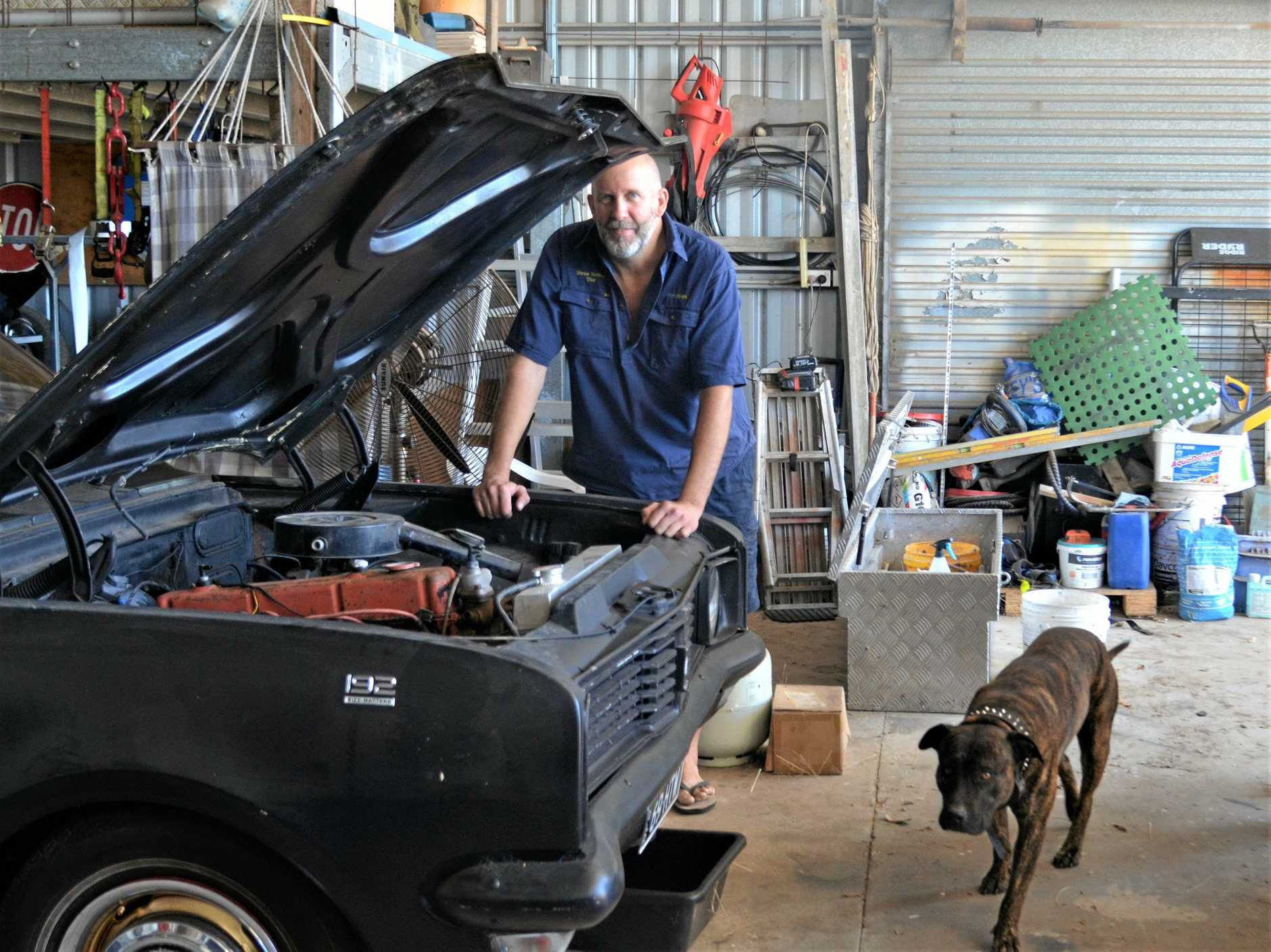 LISTEN UP: Steve Henley, 38, had fallen asleep after working in his garage, when he realised he couldn't feel his hand,