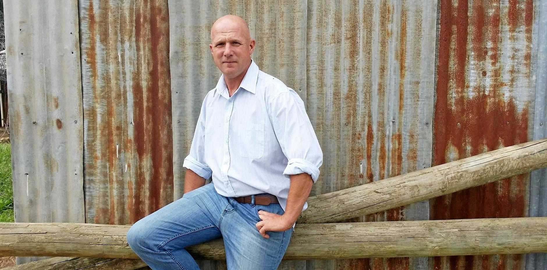 TALKING IT OVER: Warren Davies, The Unbreakable Farmer, will speak at the Lockyer Drought Support Forum this month.
