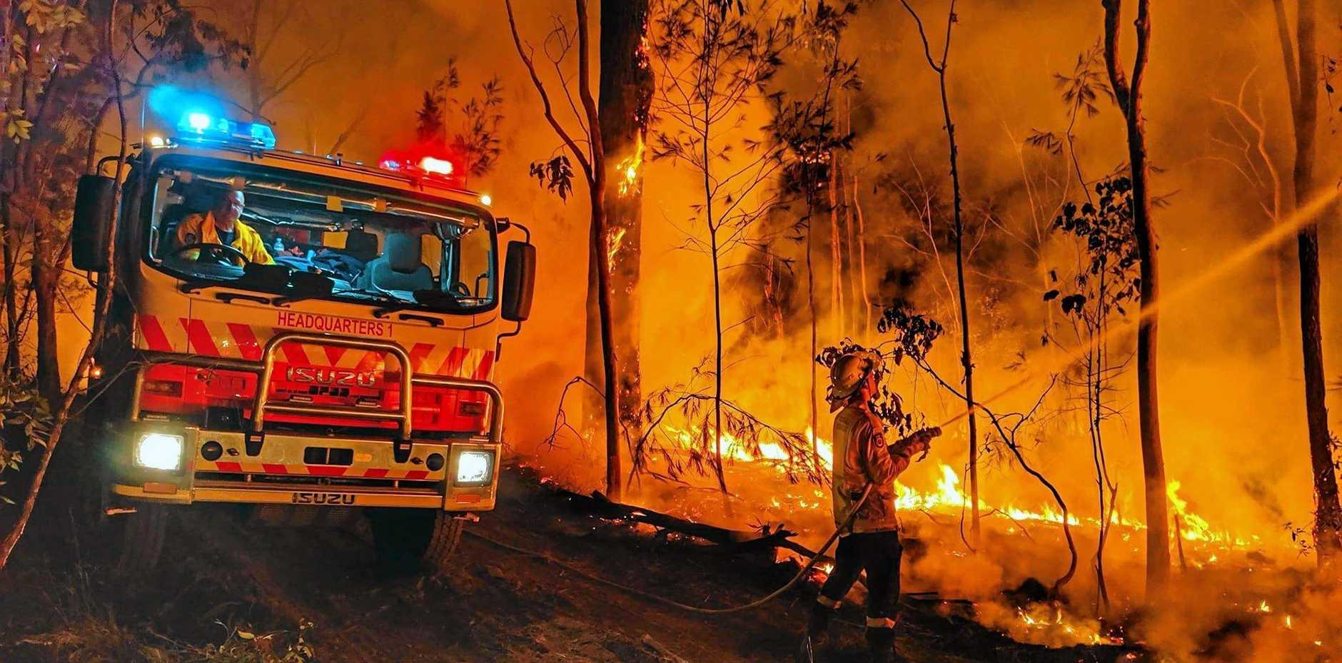 File photo of a bushfire
