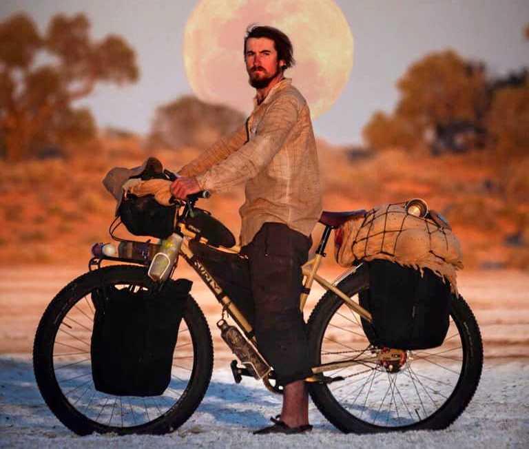 MENTAL WELLNESS: Brando Yelavich will pass through Roma as part of his journey crossing Australia on his bike.