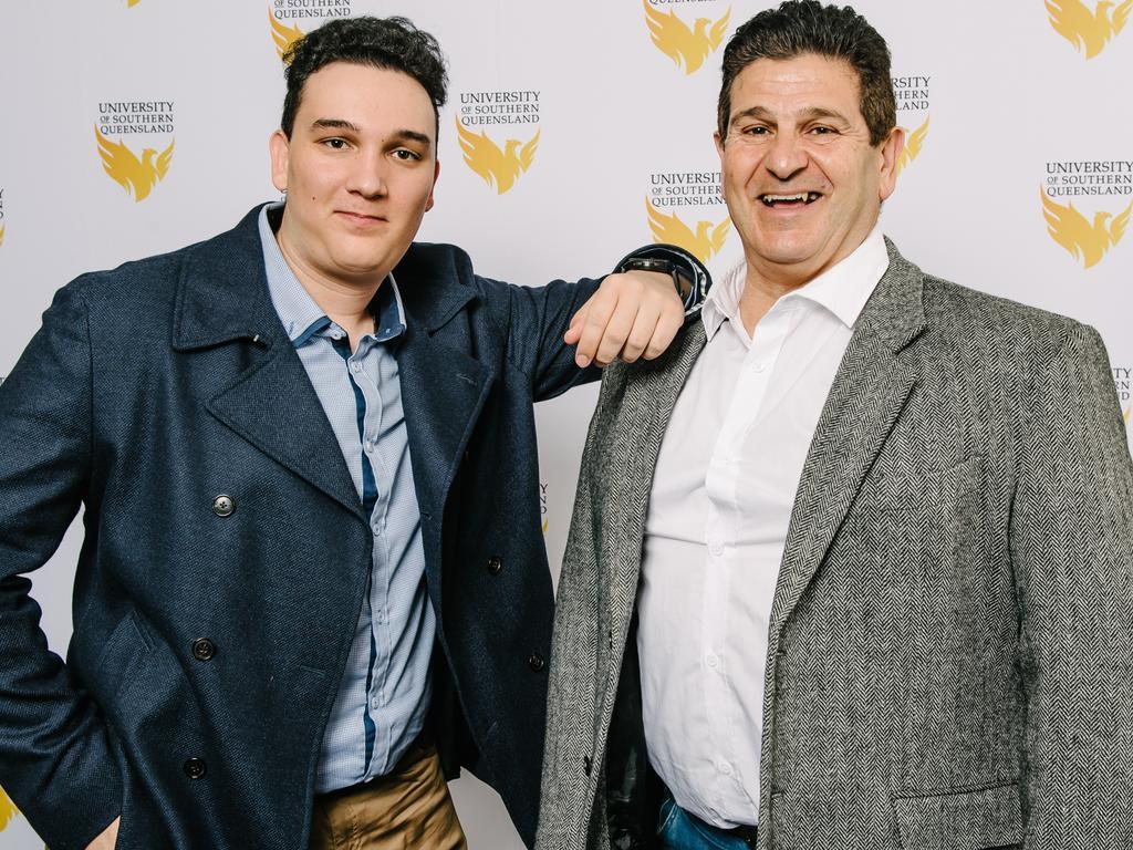 Nick Deriboklov and Georgio Arundel. Photo: USQ Photography.