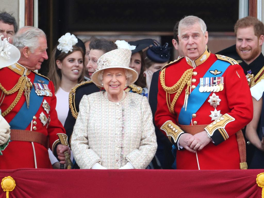 Prince Andrew with the royal family in June. Picture: Getty Images
