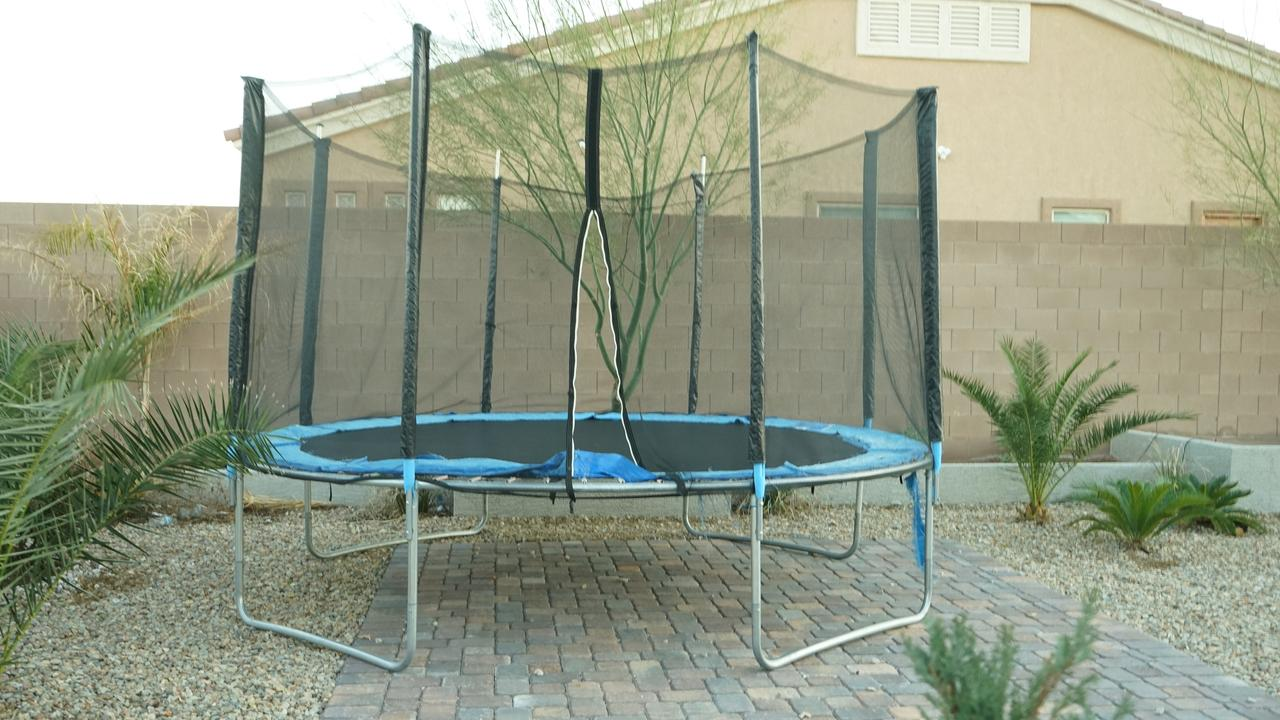The trampoline on which Jamie had his accident. Picture: istock