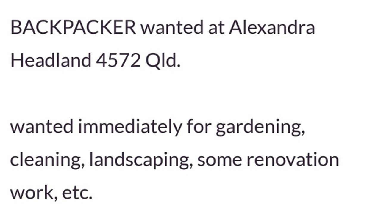 Max responded to this Gumtree ad.