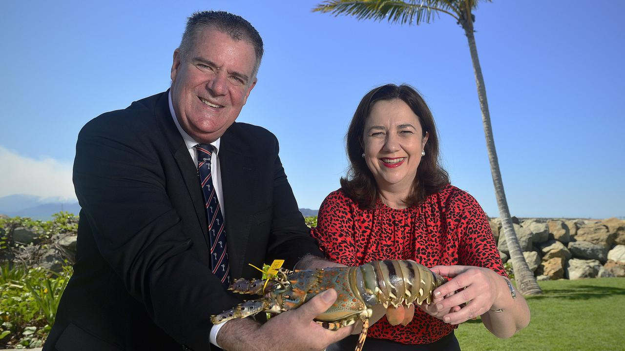 Australian Senator Mark Furner with Queensland Premier Annastacia Palaszczuk during a parliamentary visit to Townsville. PICTURE: Matt Taylor.