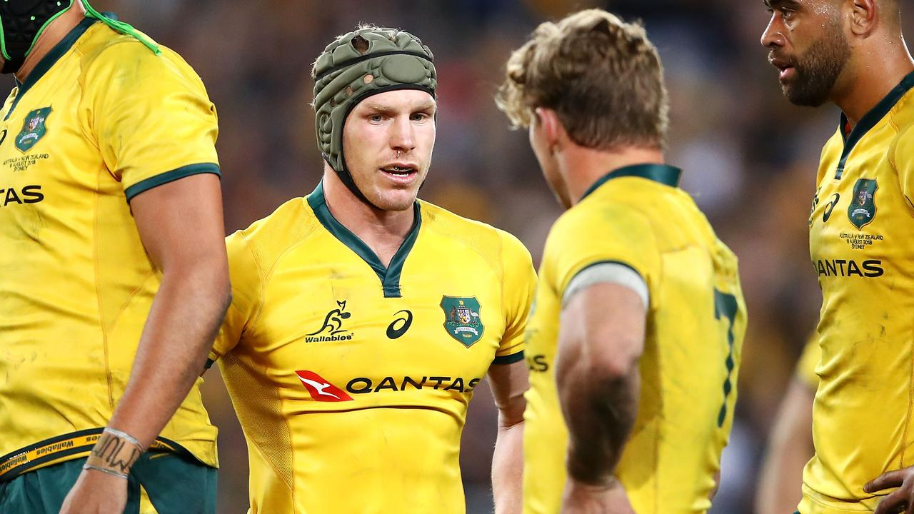 David Pocock will captain the Wallabies against Samoa on Saturday while Michael Hooper (right) will sit out the match. Picture: Getty Images