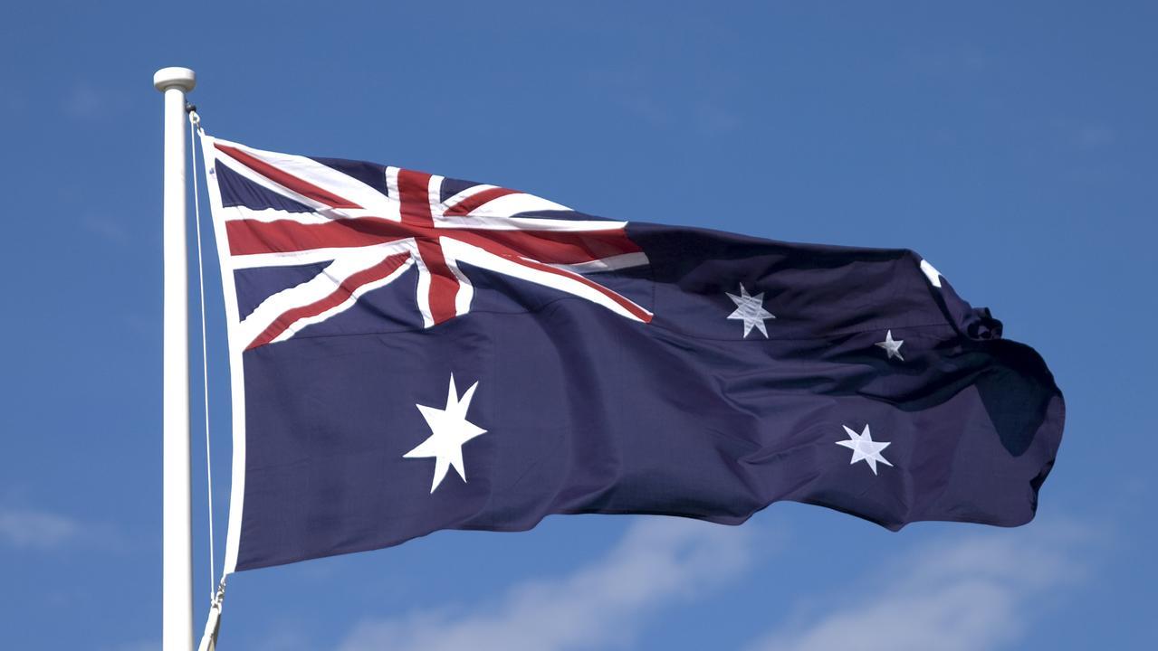 Australian flag. Generic image.
