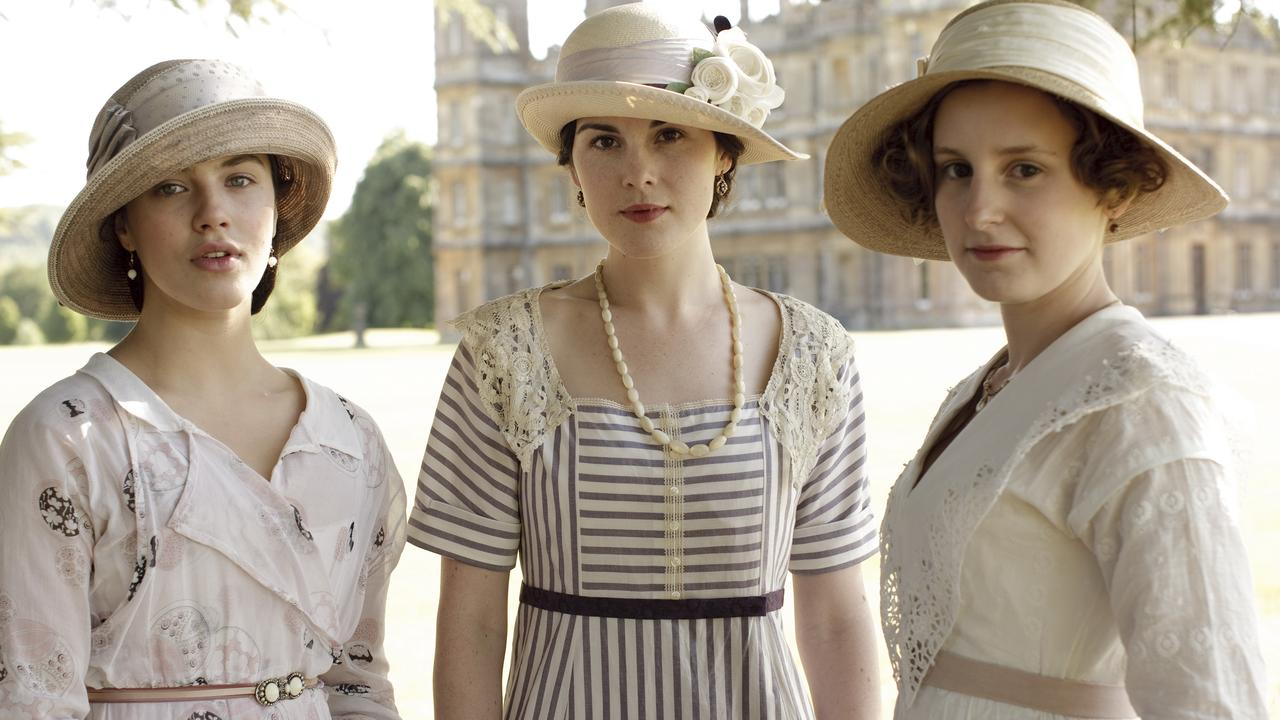 Lord Grantham's three daughters, Sybil, Mary and Edith.