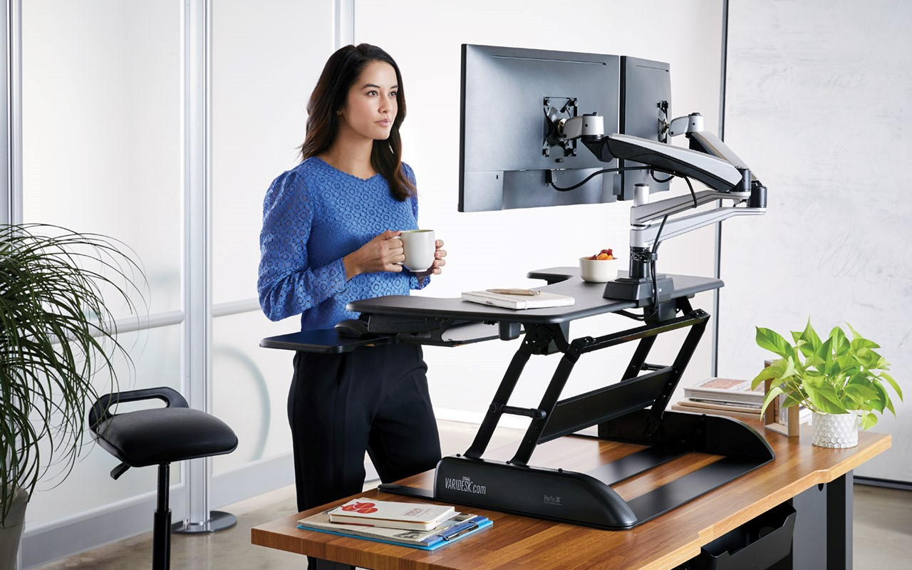 The Varidesk offers a range of options to get you on your feet.