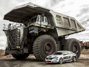 Supercars champion makes surprise stop at Bowen Basin mine
