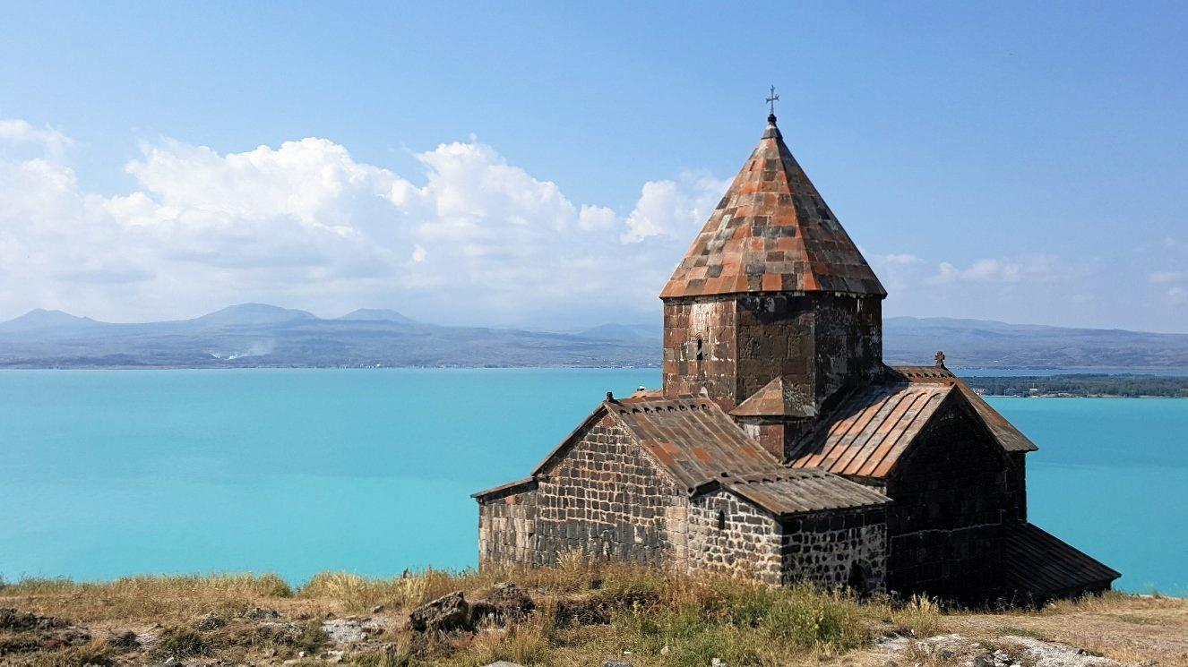 The beauty of an old church at Lake Sevan, Armenia