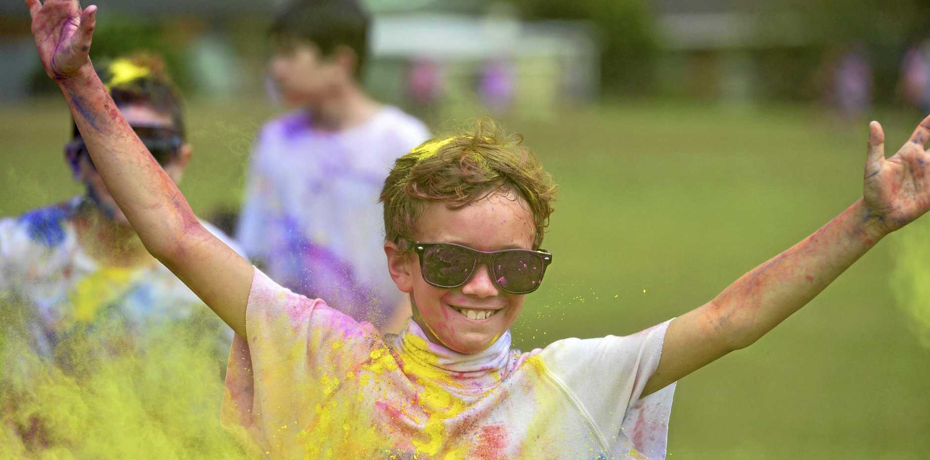 COLOUR FUN: Get messy and have some fun at the Colour Frenzy 5k Colour Run at Newtown Park.