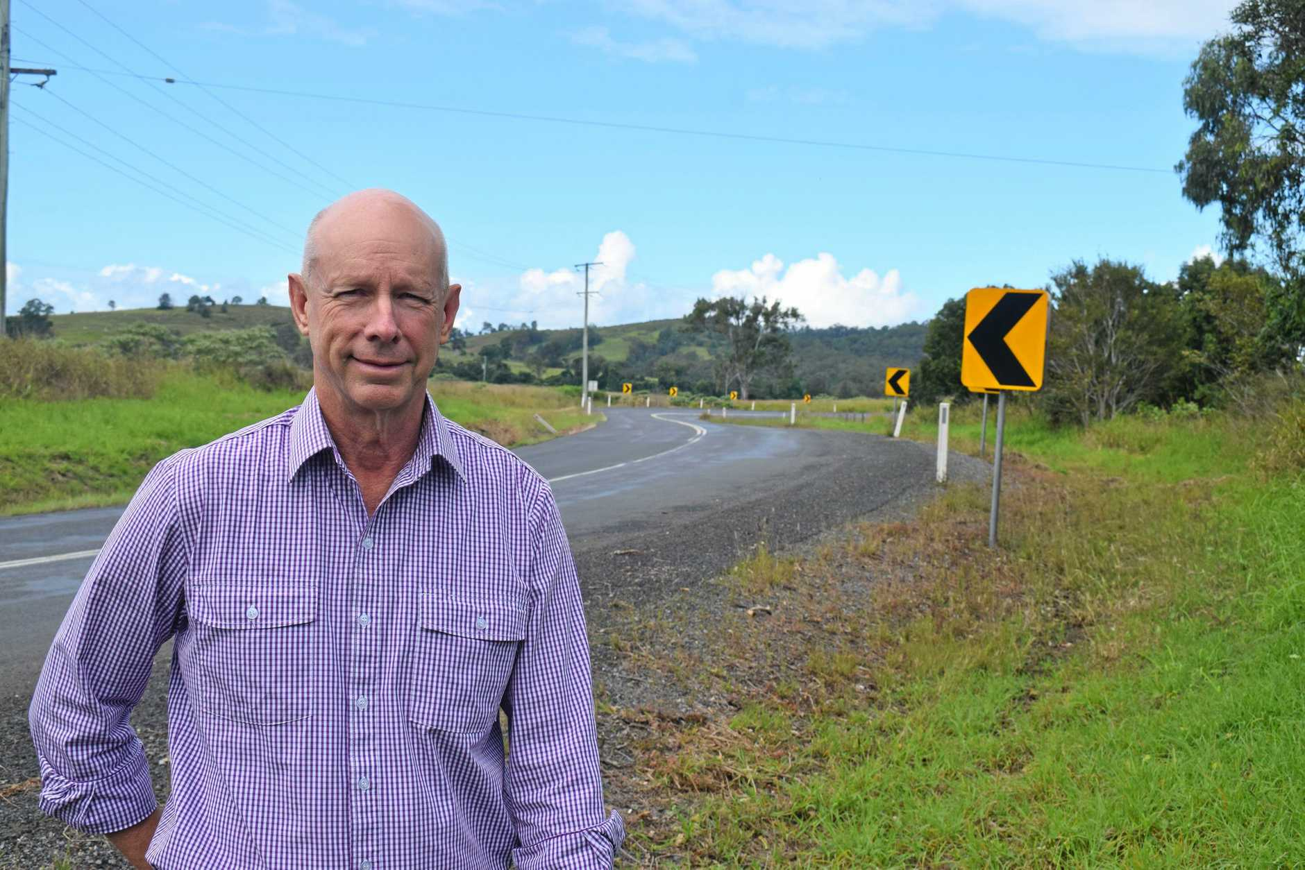 Councillor Bob Fredman Mary Valley Highway.