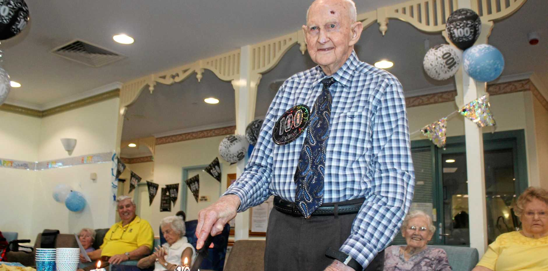 HAPPY BIRTHDAY: Alstonville's Adventist aged-care resident, Gordon Elvery, turned 100 on September 6.