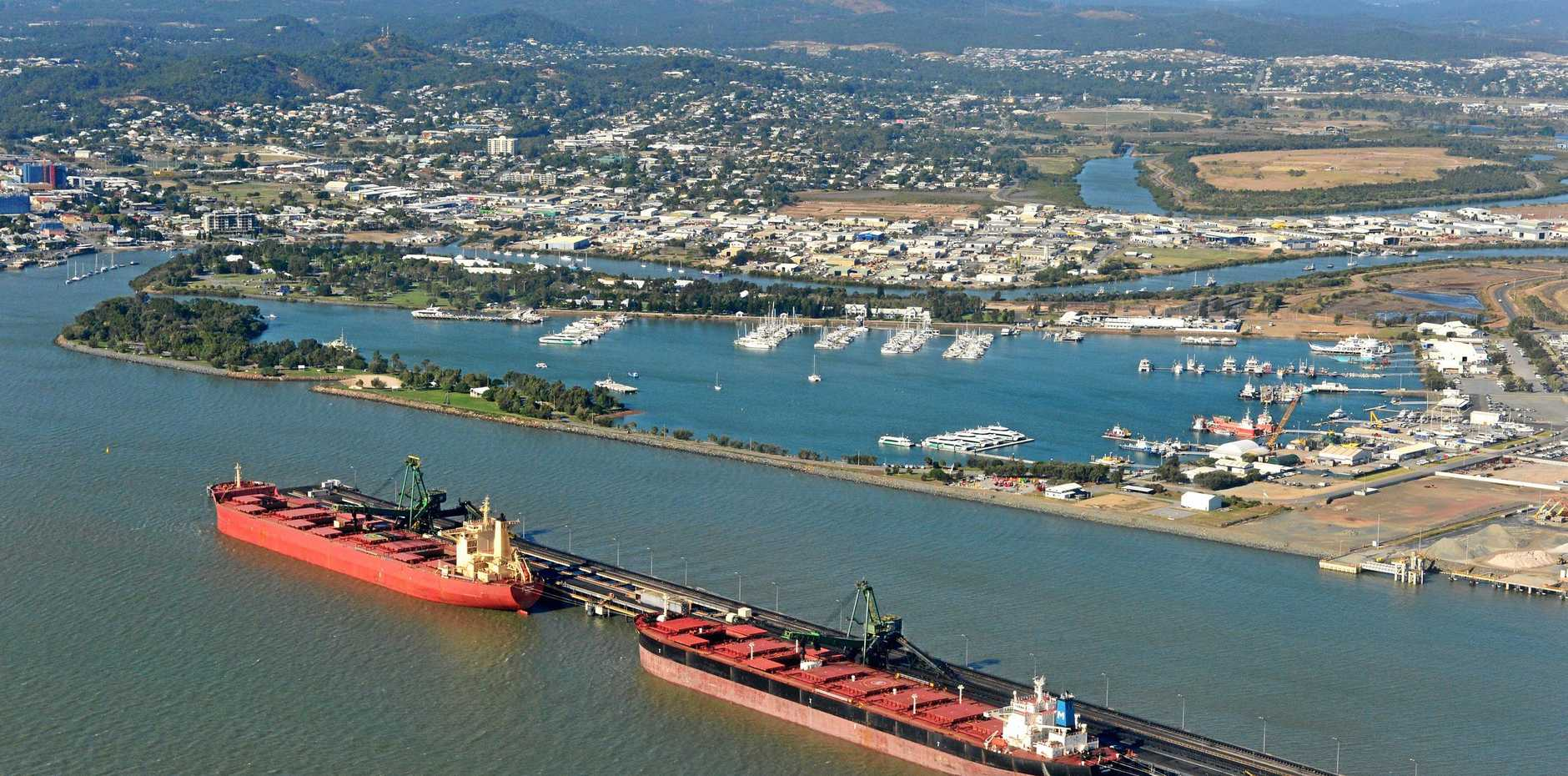 DETAINED: A Chinese-owned bulk carrier (not pictured) chartered to carry coal to Korea has been detained at the Port of Gladstone by the Australian Maritime Safety Authority after crew members reported they were owed $64,000 in unpaid wages. Brenda Strong GLA110713PLAN